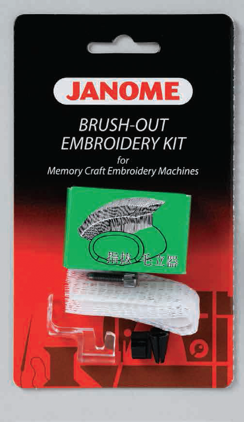 Brush out set - garnbrodering