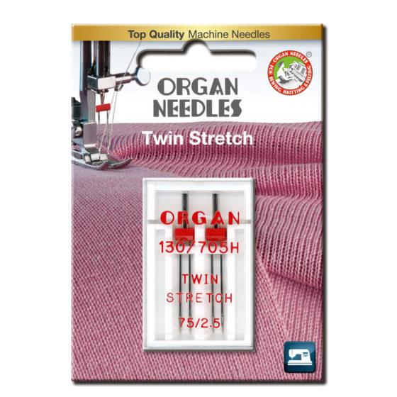 Organ Tvilling Stretch 2,5mm 75, 2-pack