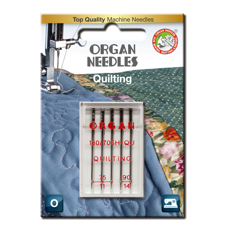 Organ Quiltning 75-90, 5-pack
