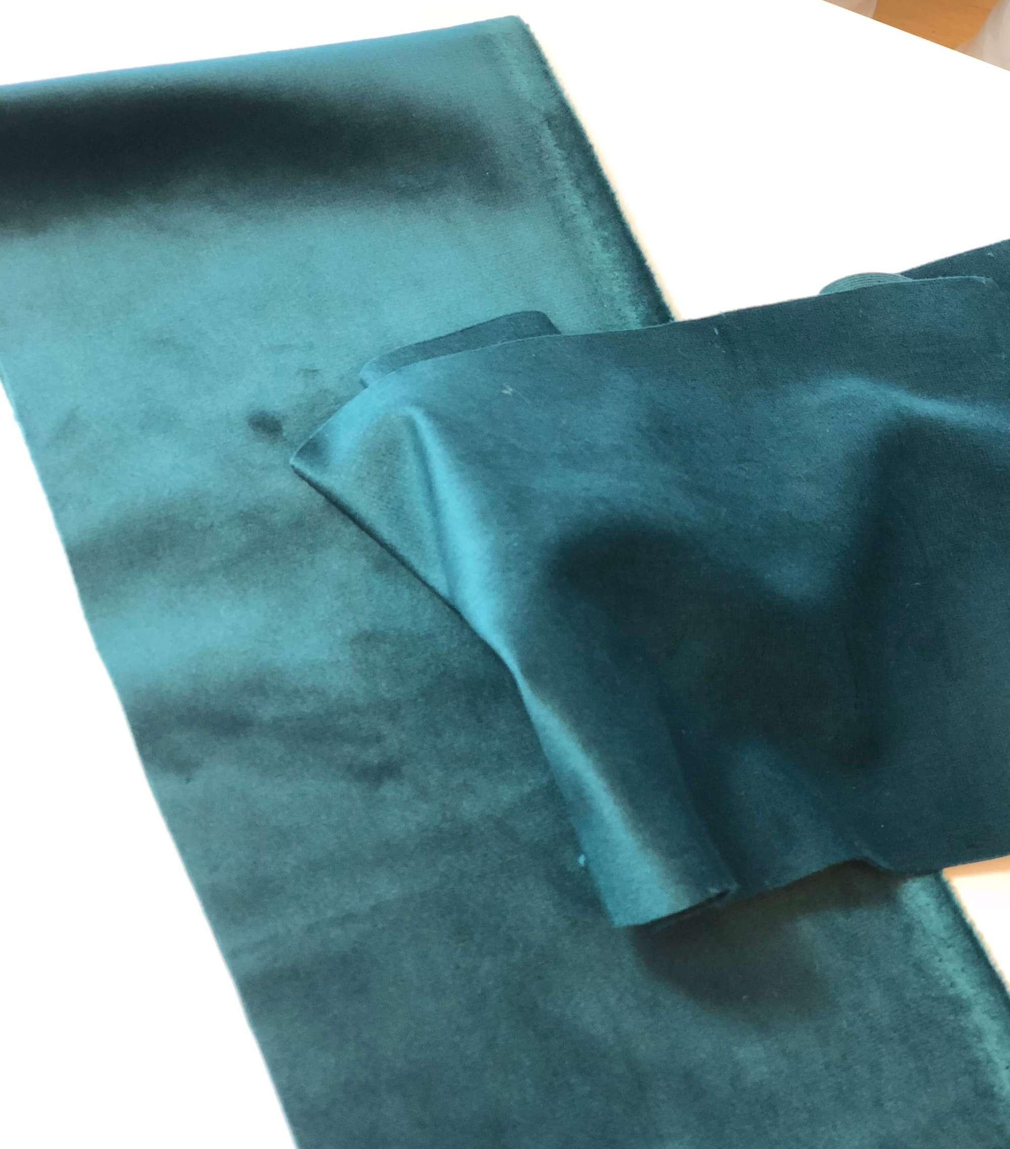 stoff velour grønn hårband