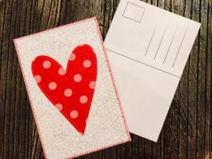 hjemmelaget postkort hjerter do it your self