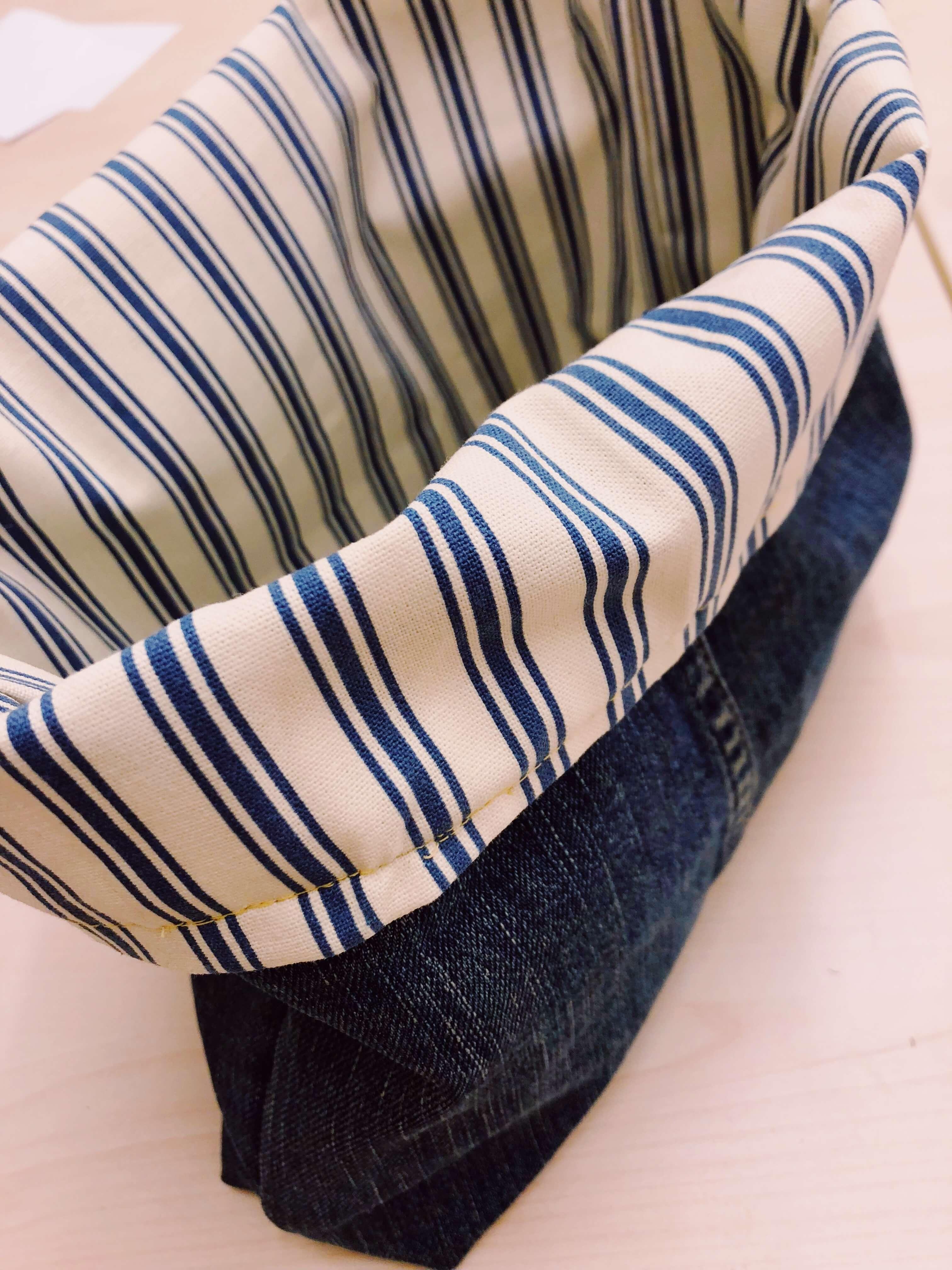 stoffrester sy redesign diy jeans gjenbruk knappenåler