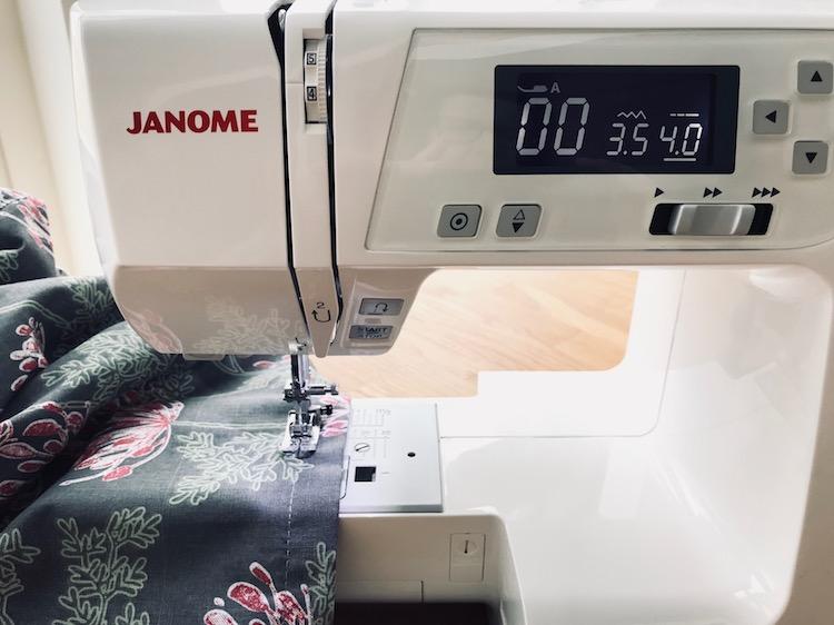 fold ermer ommer Janome sy diy tråd stoff